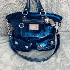 Coach Poppy Sequins Limited Edition Midnight Blue